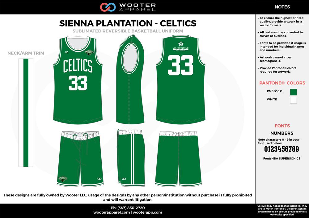 Sienna Plantation - Summer Basketball League - Celtics - Sublimated Reversible Basketball Uniform - 2017 1.png