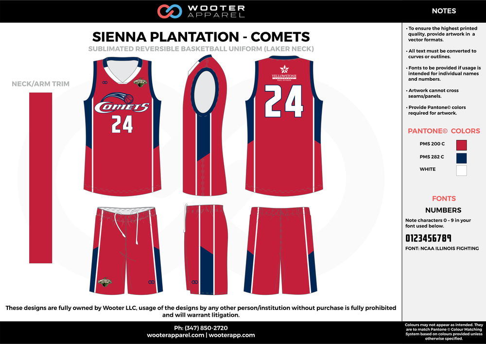 COMETS red blue white Basketball uniforms jerseys shorts