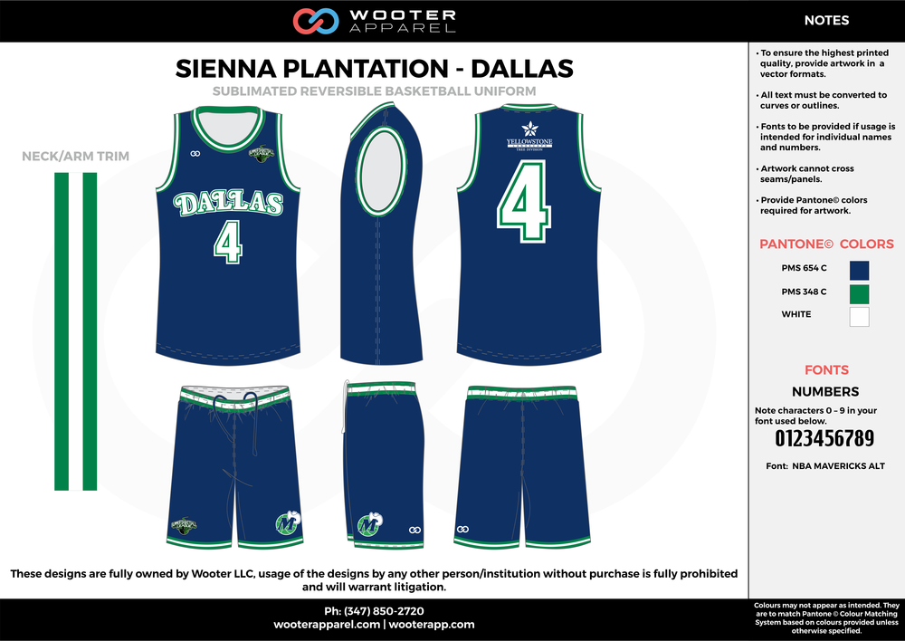 DALLAS blue green white Basketball uniforms jerseys shorts