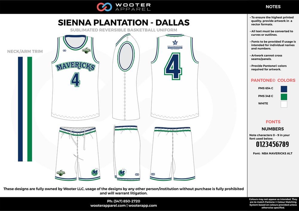 DALLAS white green blue Basketball uniforms jerseys shorts