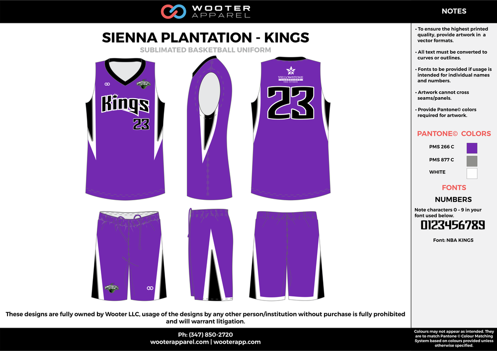 KINGS purple black white Basketball uniforms jerseys shorts