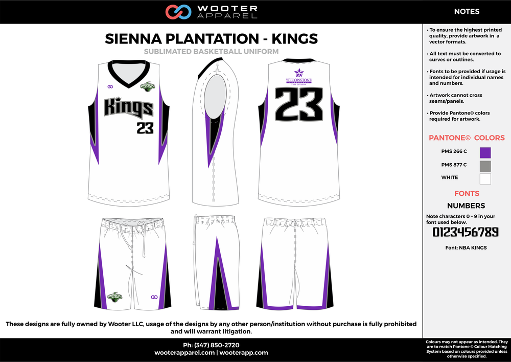 KINGS purple gray white Basketball uniforms jerseys shorts