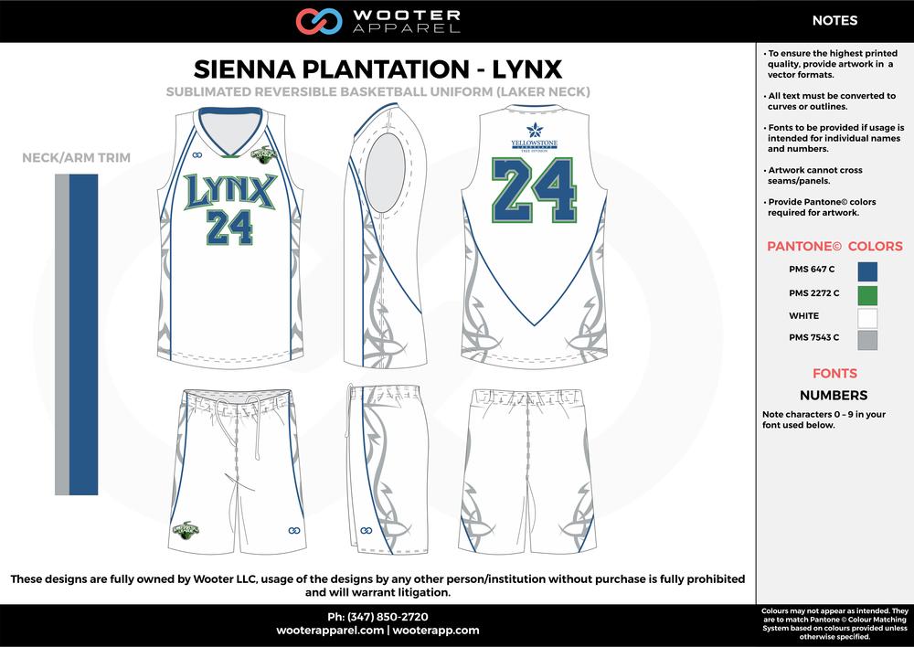 Sienna Plantation - Summer Basketball League - Lynx - Sublimated Reversible Basketball Uniform - 2017 2.png