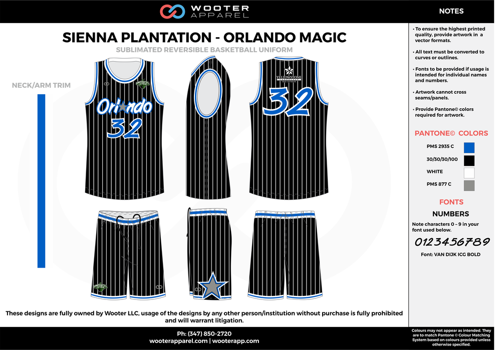 ORLANDO MAGIC black blue gray white Basketball uniforms jerseys shorts