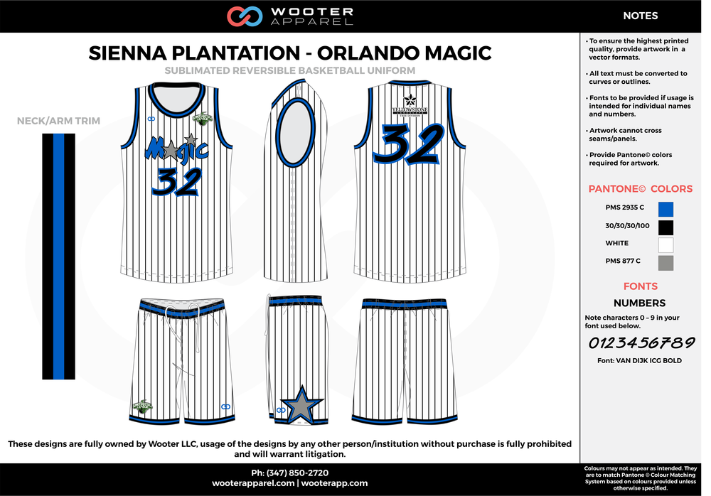 ORLANDO MAGIC blue black white gray Basketball uniforms jerseys shorts