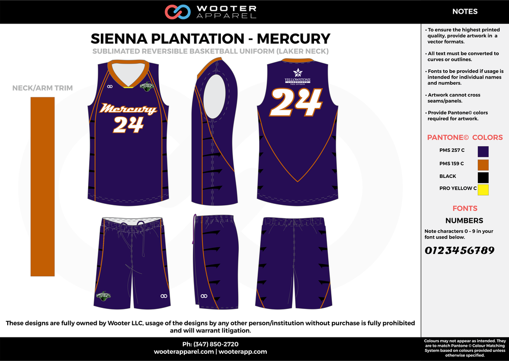 MERCURY purple gold yellow black Basketball uniforms jerseys shorts