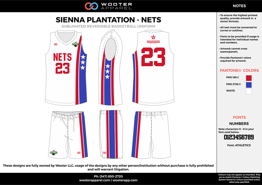 NETS white red blue Basketball uniforms jerseys shorts