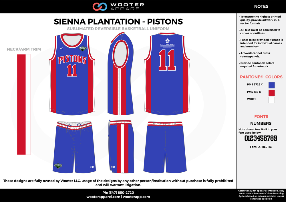 PISTONS blue red white Basketball uniforms jerseys shorts