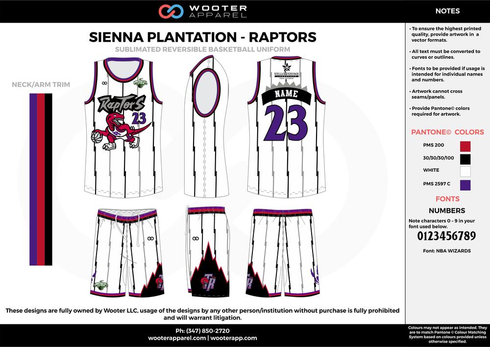 Sienna Plantation - Summer Basketball League - Raptors - Sublimated Reversible Basketball Uniform - 2017 1.png