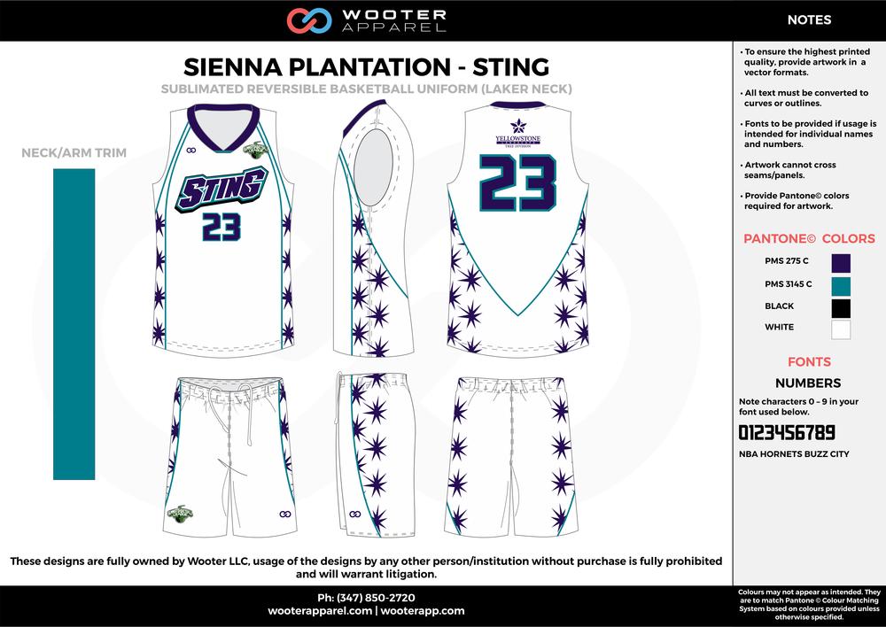 Sienna Plantation - Summer Basketball League - Sting - Sublimated Reversible Basketball Uniform - 2017 2.png