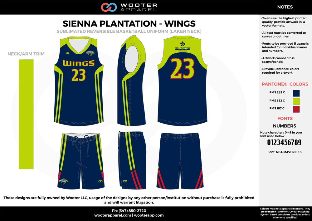 WINGS navy blue green red Basketball uniforms jerseys shorts