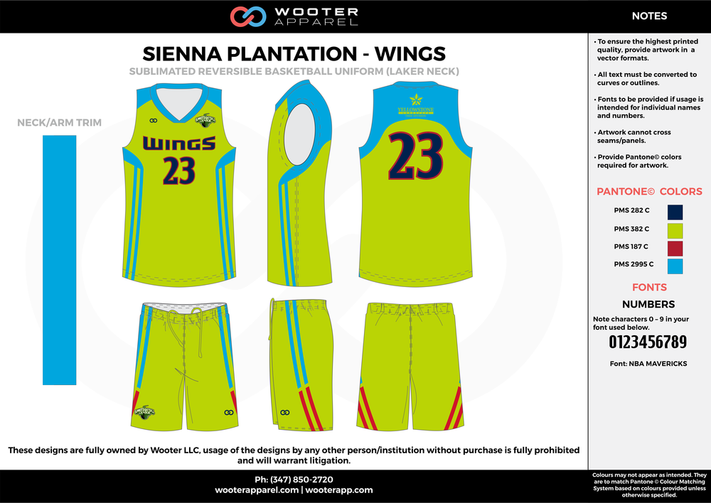 WINGS green blue red black Basketball uniforms jerseys shorts