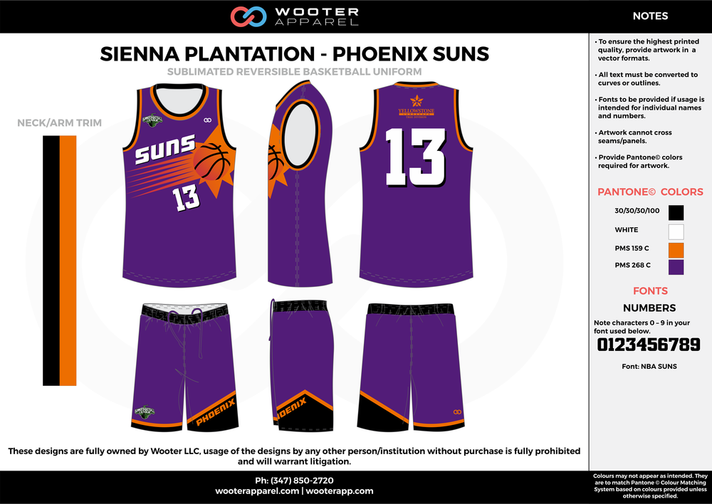 Sienna Plantation - Summer League - Suns - Sublimated Reversible Basketball Uniform - 2017 1.png