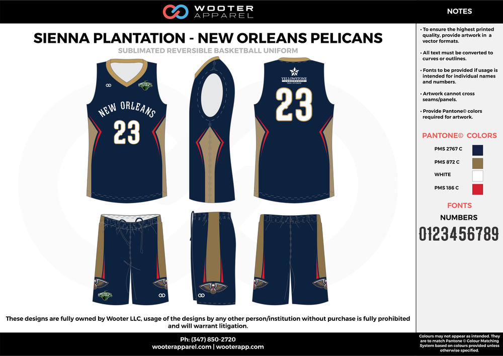NEW ORLEANS PELICANS dark blue beige red white Basketball uniforms jerseys shorts