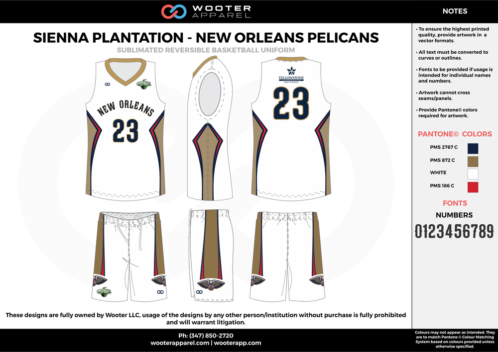 NEW ORLEANS PELICANS white beige red black Basketball uniforms jerseys shorts