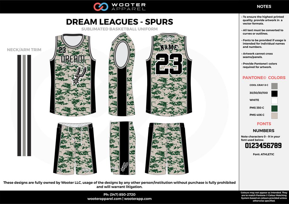 Dream leagues Basketball - Spurs - Sublimated Basketball Uniform - 2017.png
