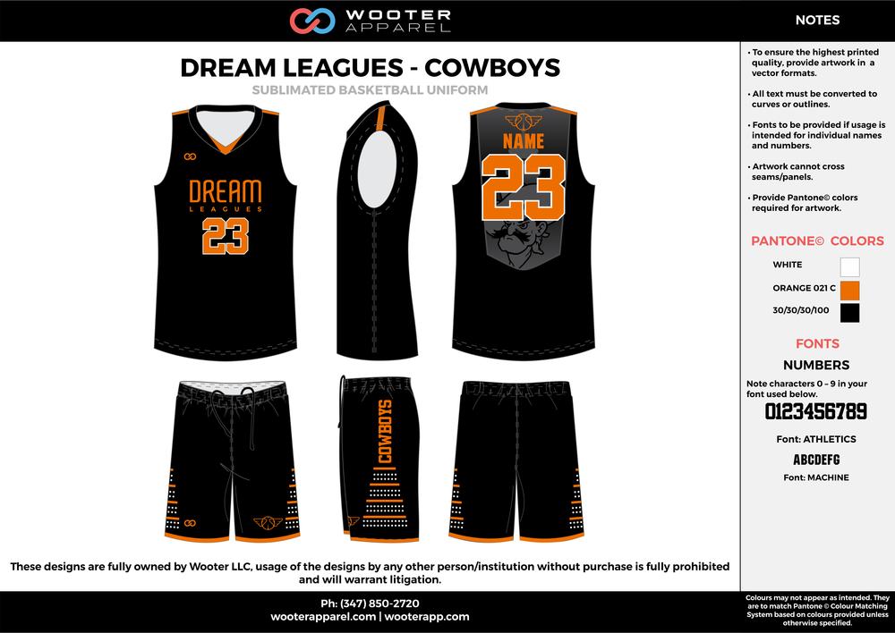 Dream Leagues  - Cowboys - Sublimated Basketball Uniform - 2017.png