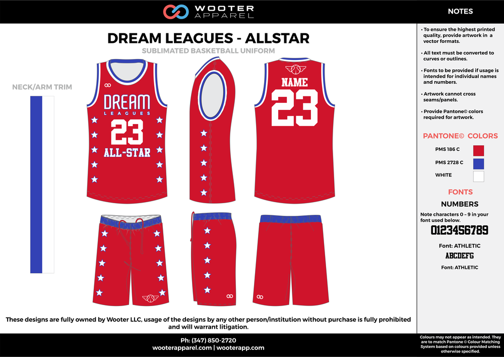 Dream Leagues  - All Star - Sublimated Basketball Uniform - 2017.png