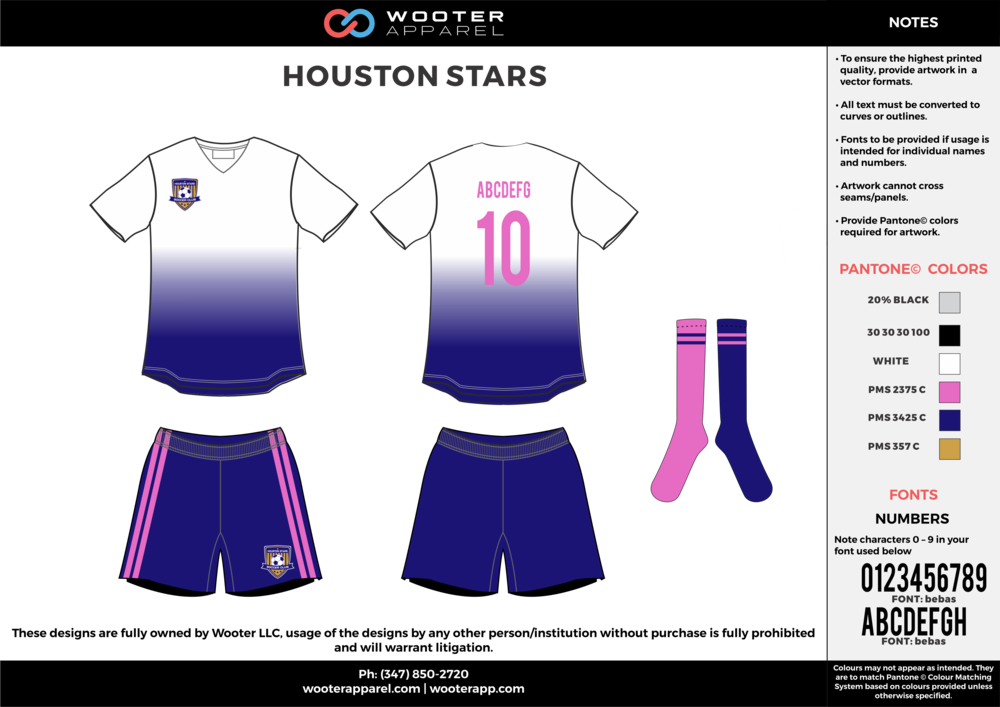 NBC Soccer - Houston Stars - Soccer Uniform - White - 2017 - v4.png
