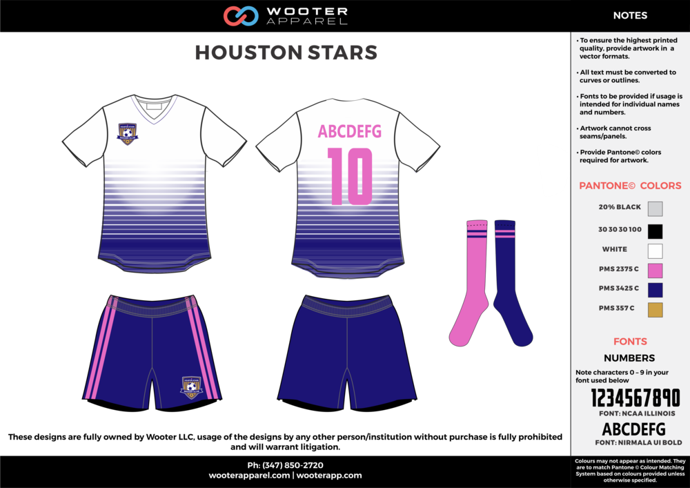 NBC Soccer - Houston Stars - Soccer Uniform - White - 2017 - v3.png