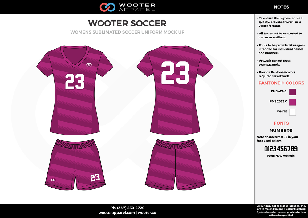 WOOTER violet white custom sublimated soccer uniform jersey shirt shorts
