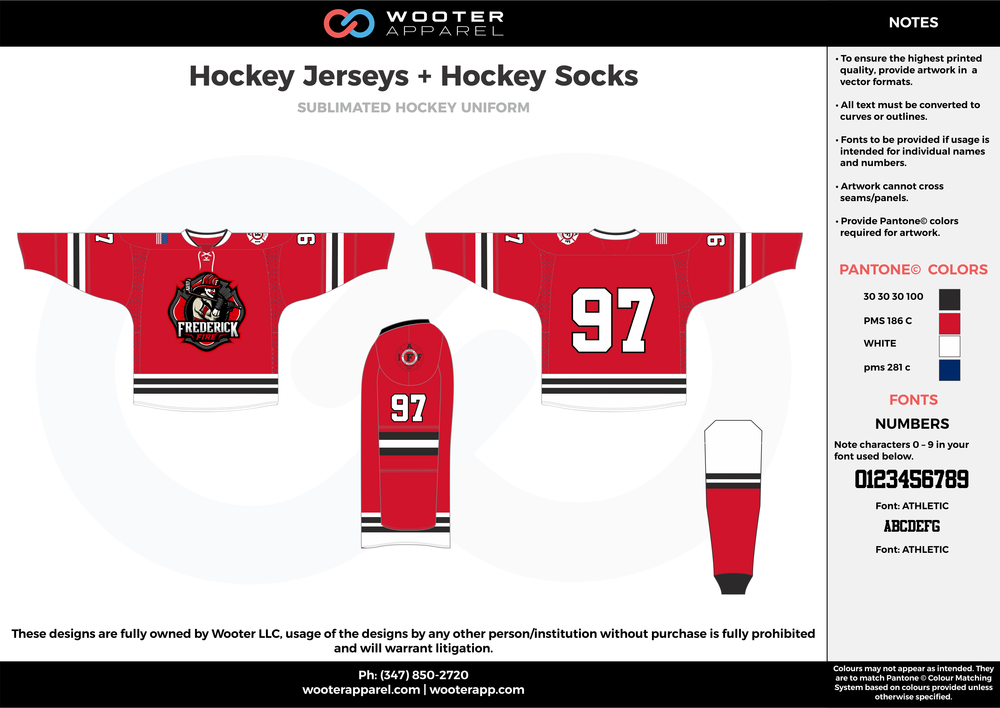 ffed5e3c57c Hockey Jerseys + Hockey Socks red blue white black hockey uniforms jerseys  socks