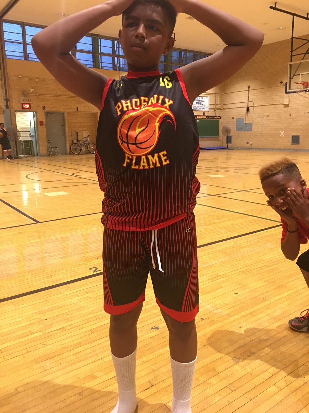 PHOENIX FLAME  red black yellow basketball uniforms jersey shirts, shorts