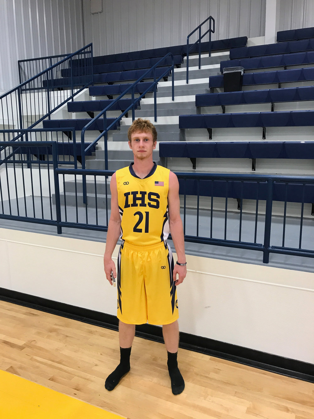 IHS yellow black white basketball uniforms jersey shirts, shorts