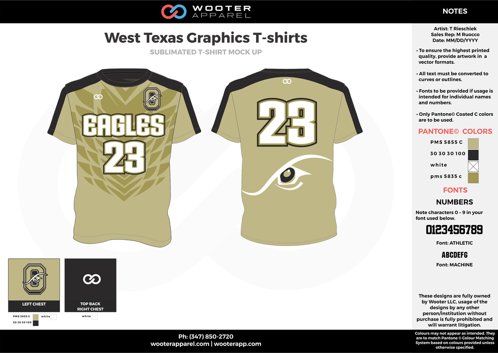 West Texas Graphics T-shirts khaki black white custom long sleeve shirts