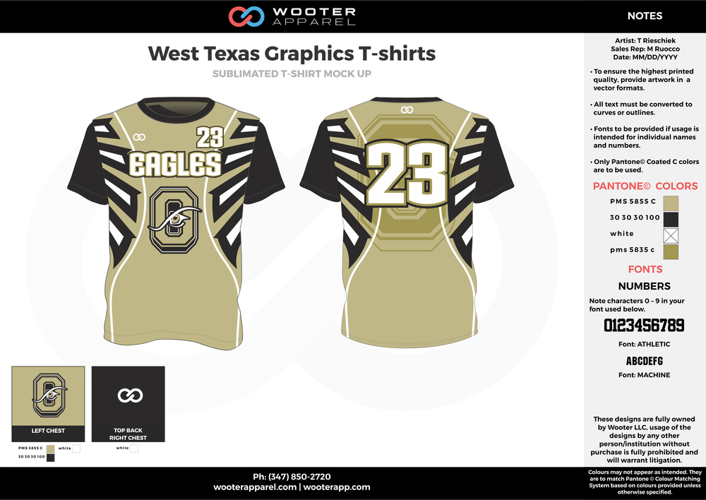 West Texas Graphics T-shirts beige black white custom short sleeve shirts