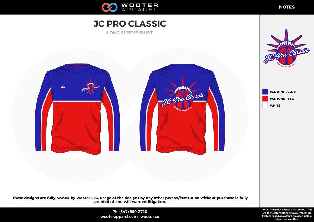 JC PRO CLASSIC red blue white custom design t-shirts