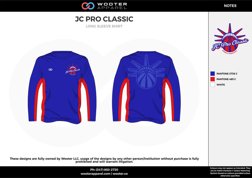 JC PRO CLASSIC blue red gray custom design t-shirts