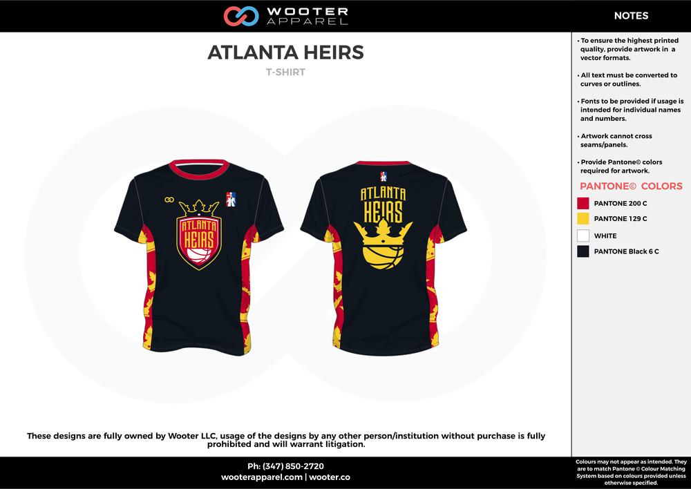 ATLANTA HEIRS red yellow black custom design t-shirts