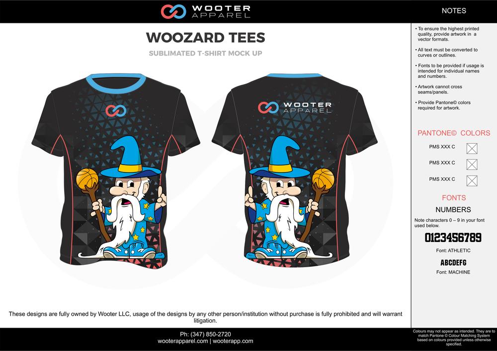 WOOZARD TEES black blue gray yellow white custom design t-shirts