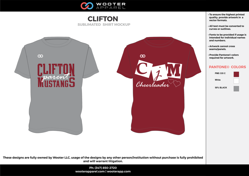CLIFTON cool gray maroon white custom short sleeve shirts
