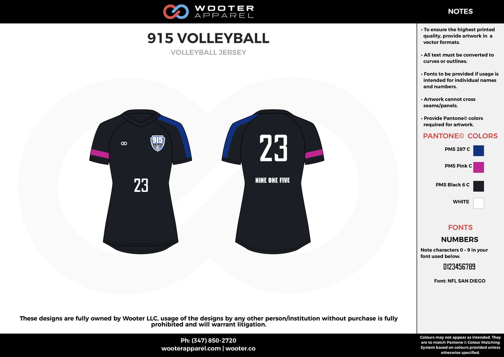 915 VOLLEYBALL black blue pink white Volleyball Uniforms, Jerseys, Shorts