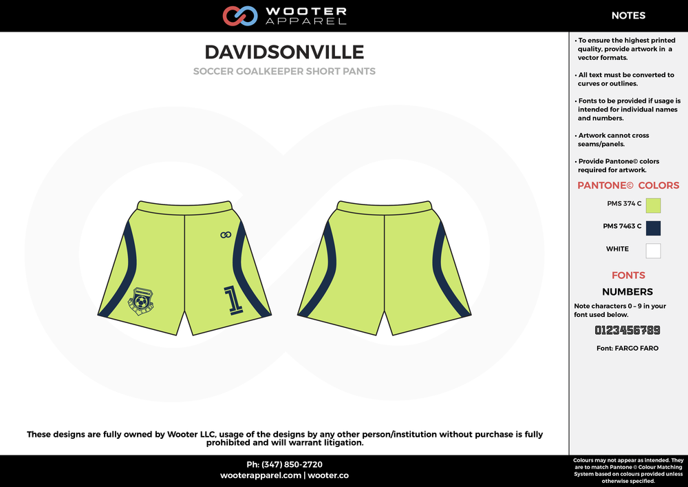 DAVIDSONVILLE apple green black custom sublimated soccer uniform jersey shorts