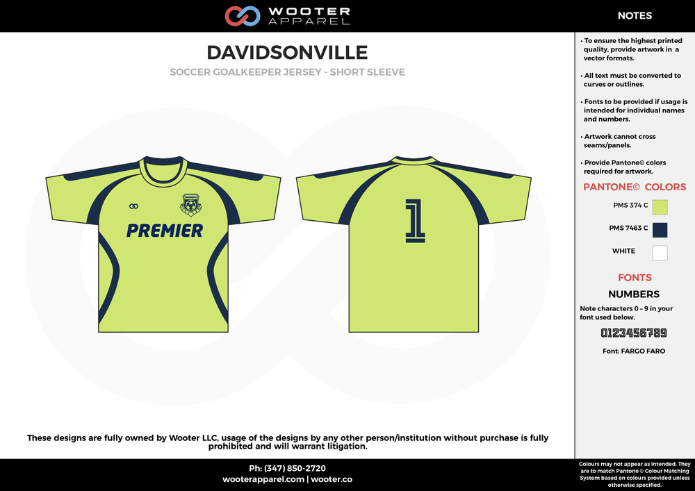 DAVIDSONVILLE apple green blue custom sublimated soccer uniform jersey shirt