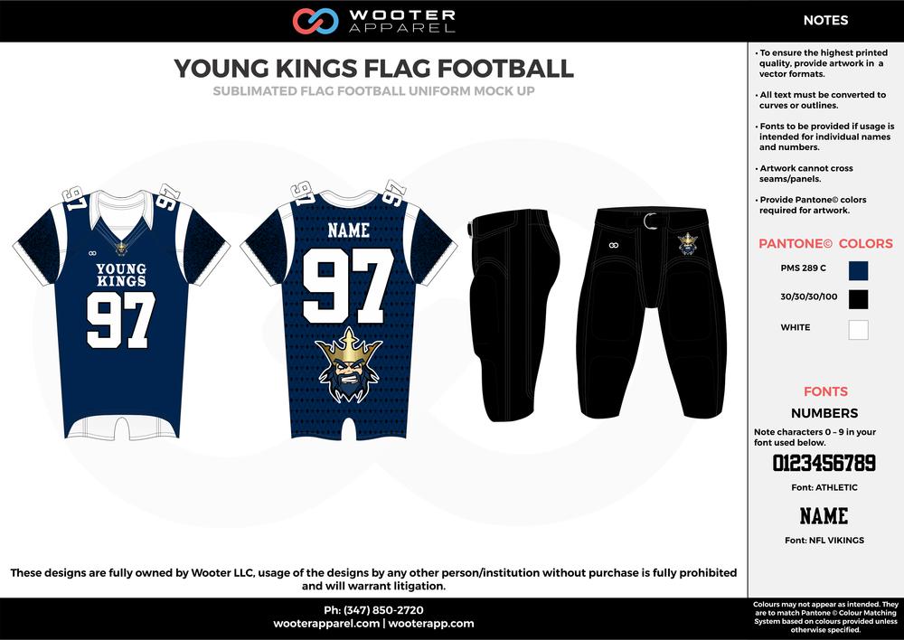 Young Kings Flag Football - Sublimated Flag Football Uniform - 2017.png