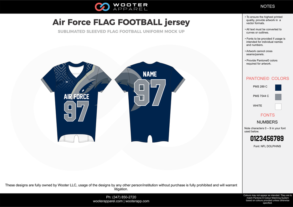 2017-09-22 Air Force FLAG FOOTBALL jersey 1.png
