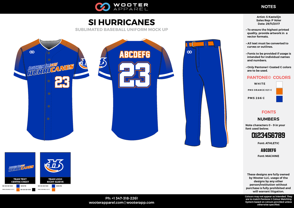 SI Hurricanes - Baseball - Sublimated Uniform - Option 1 - 2017 - v1.png