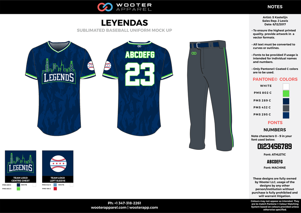 Leyendas - Baseball - Sublimated Uniform - Option 2 - 2017 - v3.png