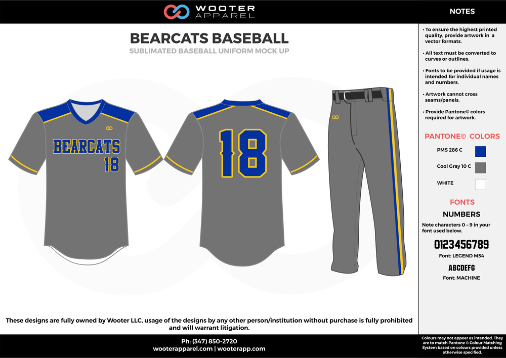 Bearcats Baseball - Sublimated Baseball Uniform - 2017 3.png