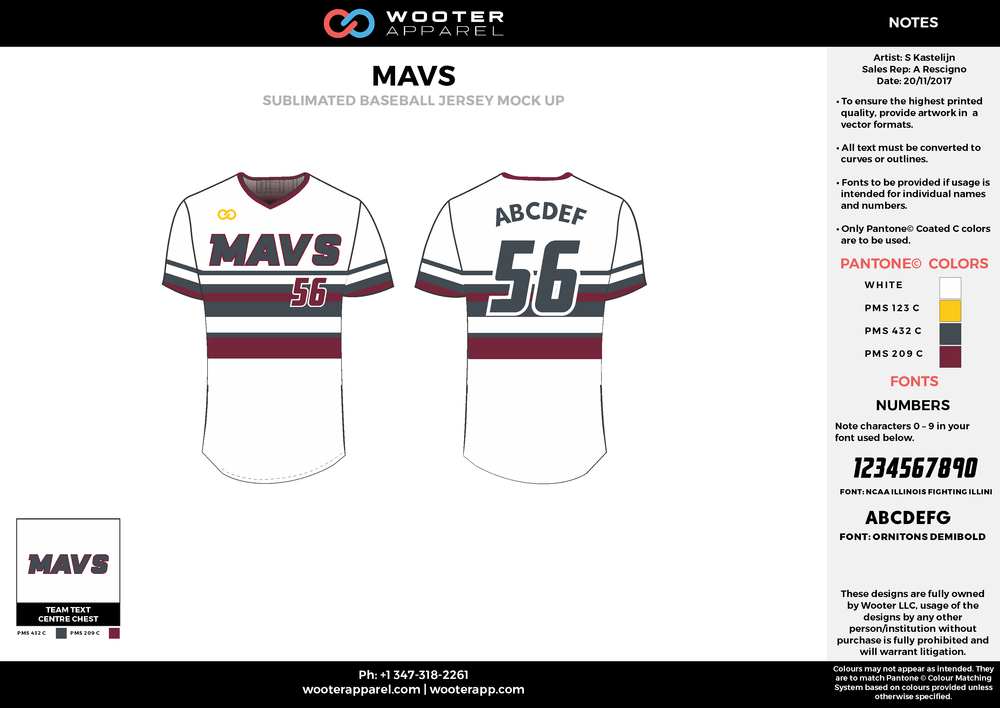 MAVS - Baseball - Sublimated Jersey - Option 1 - 2017 - v1.png