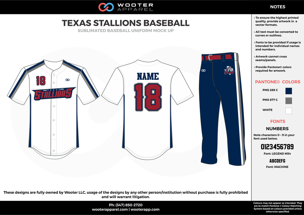 Texas Stallions Baseball - Sublimated Baseball Uniform - 2017 4.png