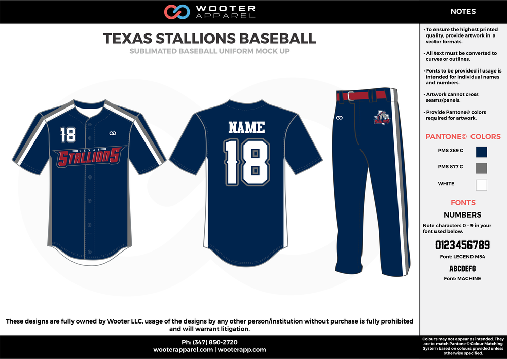 Texas Stallions Baseball - Sublimated Baseball Uniform - 2017 1.png