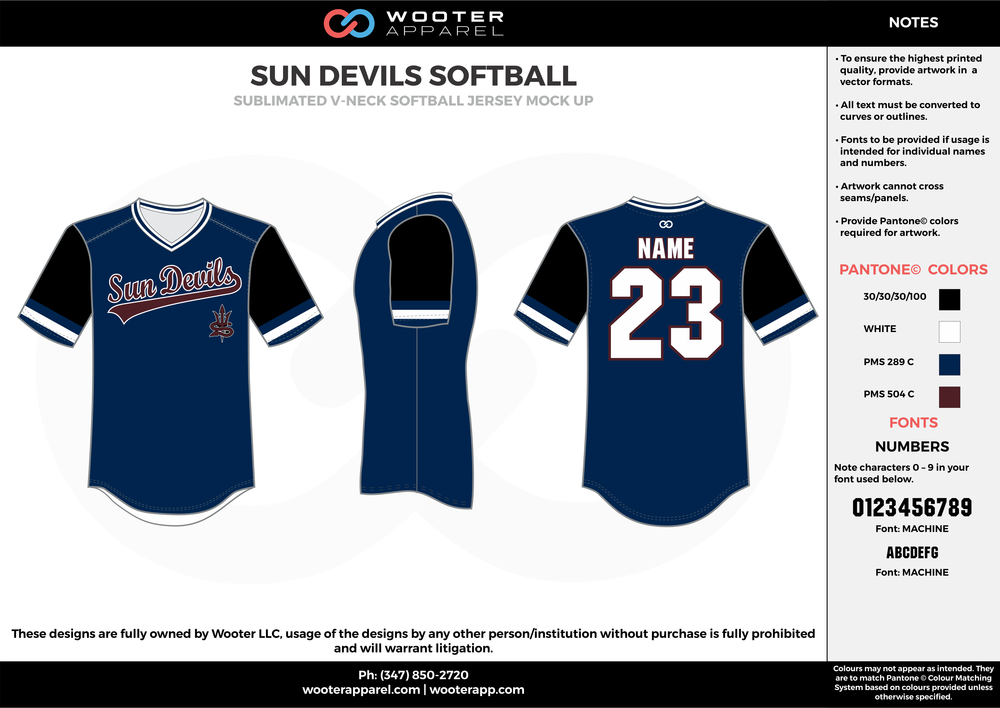 Sun Devils  Baseball - Sublimated V-Neck Pull Up Baseball Uniform -  2017 2.png