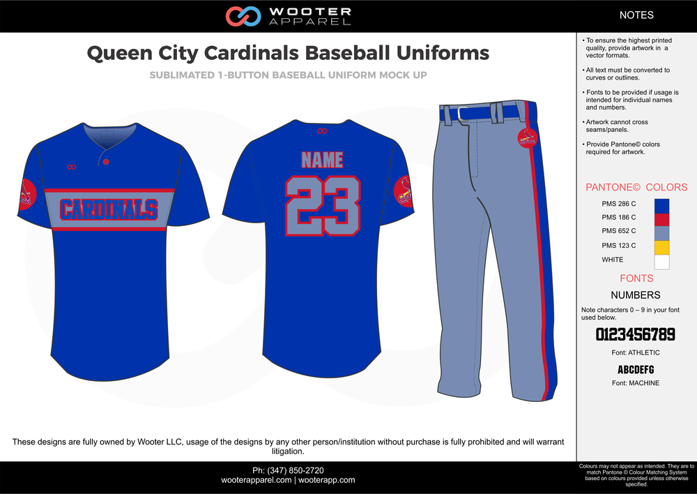 2017-08-09 Queen City Cardinals Baseball Uniforms.png