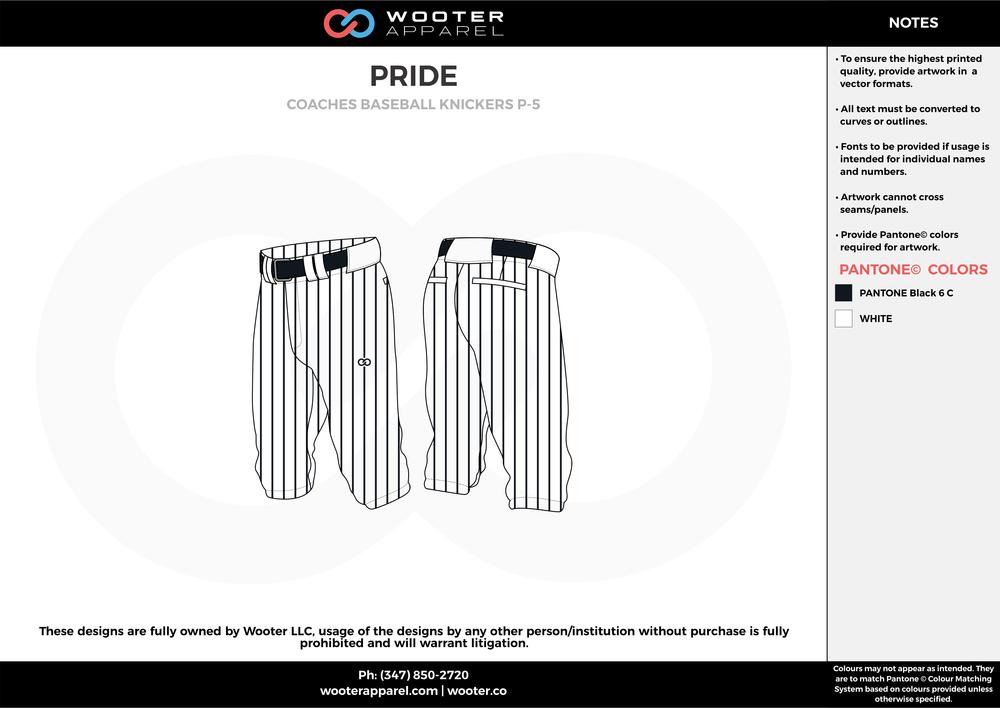 PRIDE black white baseball uniforms jerseys pants