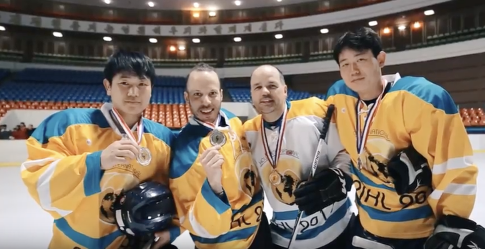 Outfitted in Wooter Apparel, members of the Hockey Friendship League hit the ice in 2017 against the North Korean National Team and prepare to kick off their 2018 season in March.